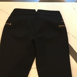 J.Crew black pants zíper detail size 0